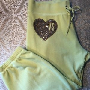 Victoria's Secret Neon Yellow Capri Sweatpants